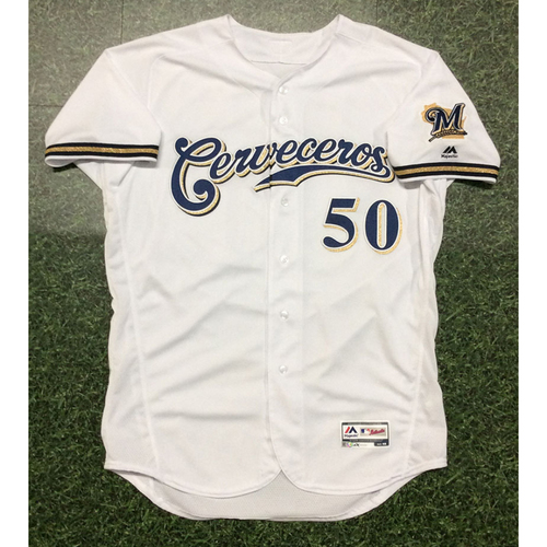 Ray Black 2019 Game-Used Cerveceros Jersey