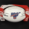 HOF - Jets Kevin Mawae Signed NFL Auction Exclusive Panel Ball W/ 100 Seasons Logo