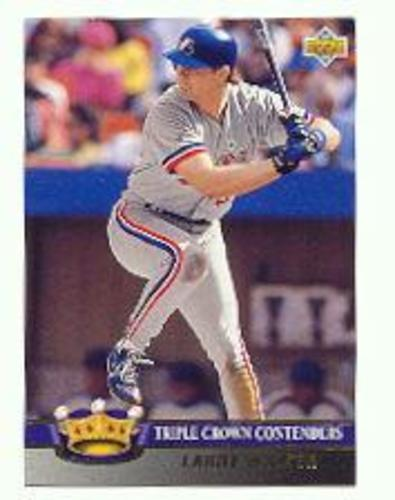 Photo of 1993 Upper Deck Triple Crown #TC10 Larry Walker