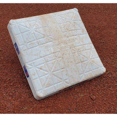 Photo of 2020 Phillies Game-Used Base - Alec Bohm 1st Career Stolen Base