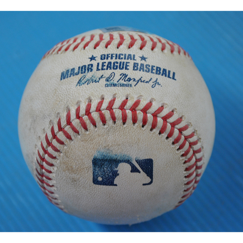 Photo of Game-Used Baseball - 2020 ALDS - Tampa Bay Rays vs. Oakland Athletics - Game 2 - Pitcher: Yusmeiro Petit, Batter: Jose Altuve (Swinging Strikeout) - Top 5