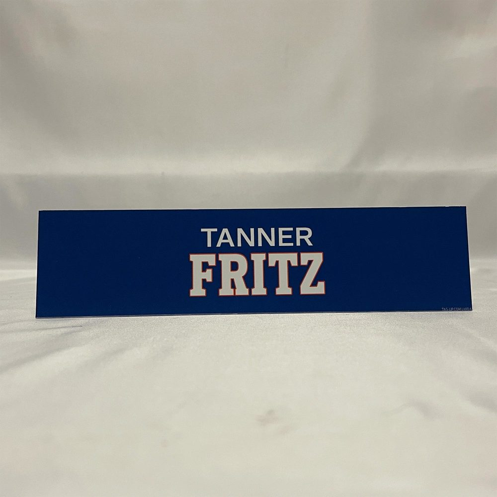 2020-21 Bridgeport Sound Tigers Locker Room Nameplate - #11 Tanner Fritz