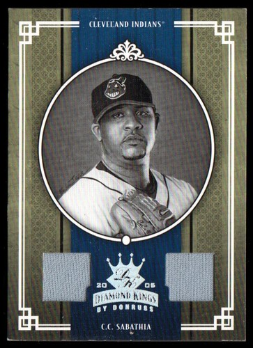 Photo of 2005 Diamond Kings Materials Silver B/W #76 C.C. Sabathia Jsy-Jsy/100