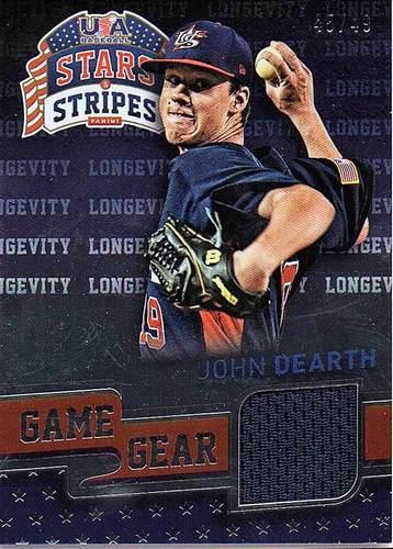 Photo of 2015 USA Baseball Stars and Stripes Game Gear Materials Longevity #49 John Dearth/49