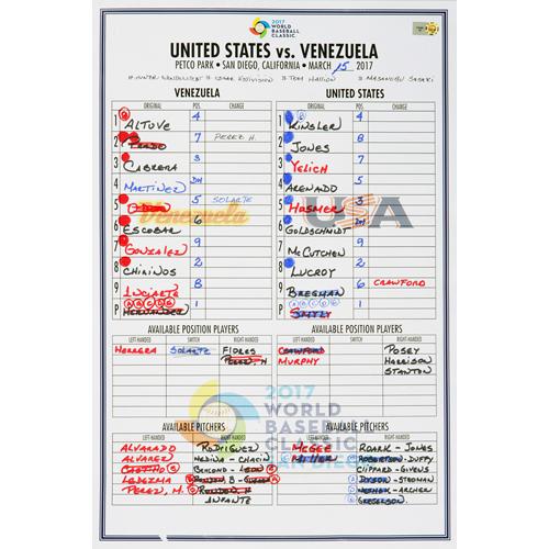 2017 WBC: Venezuela at United States - 3/15/2017