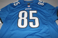 LIONS - ERIC EBRON SIGNED LIONS REPLICA JERSEY - SIZE XL