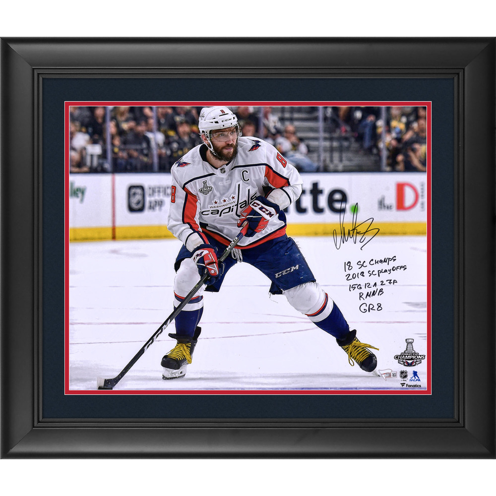 Alex Ovechkin Washington Capitals 2018 Stanley Cup Champions Framed Autographed 16