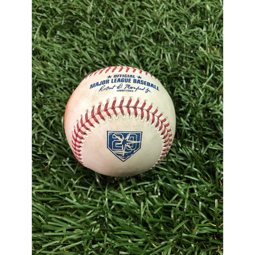 Photo of 20th Anniversary Game Used Baseball: Mike Trout double off Ryan Yarbrough - July 31, 2018 v LAA