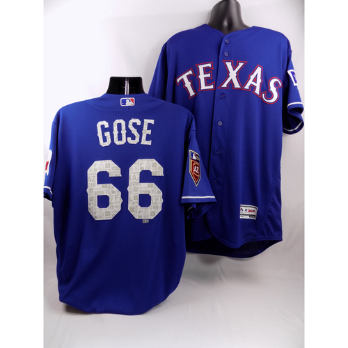 Photo of Blue Team-Issued Spring Training Jersey - Anthony Gose