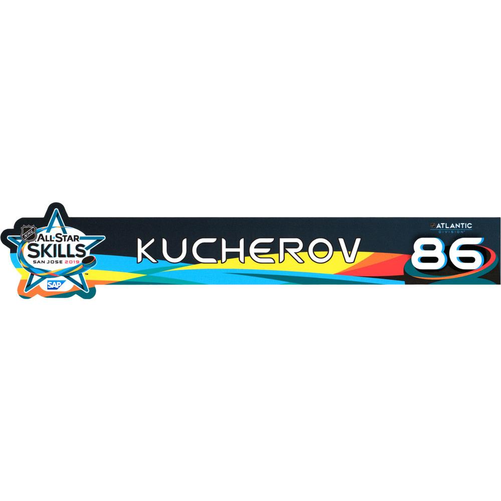 Nikita Kucherov Tampa Bay Lightning Event-Used #86 Locker Nameplate from All-Star Skills Competition