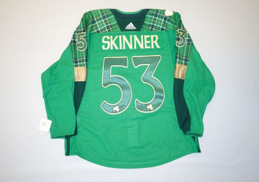 finest selection 3837e cff66 Jeff Skinner 2019 Buffalo Sabres St. Patrick's Day Jersey ...