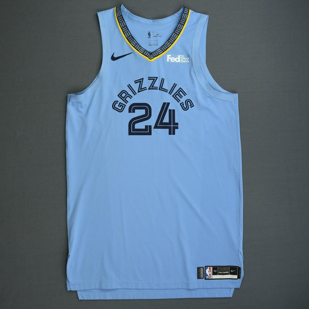Dillon Brooks - Memphis Grizzlies - 2018-19 Season - Game-Worn Blue Statement Edition Jersey