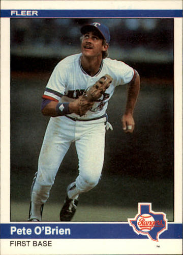 Photo of 1984 Fleer #423 Pete O'Brien RC