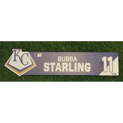 Photo of Game-Used Locker Nameplate: Bubba Starling (CWS @ KC - 7/16/19)