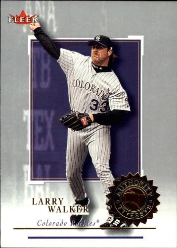 Photo of 2001 Fleer Authority #59 Larry Walker