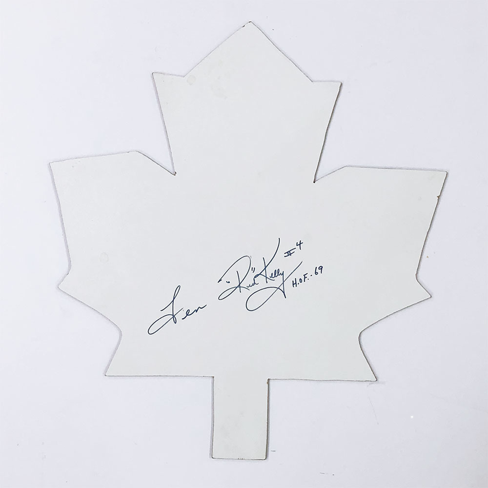 Red Kelly Autographed Maple Leaf Cut-Out