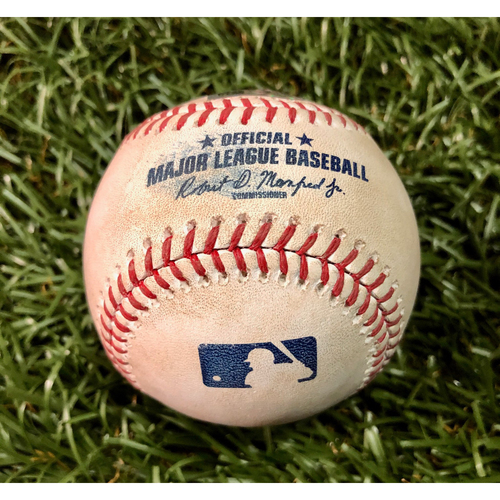 Photo of Game Used Baseball: Ian Gibaut MLB Debut - July 12, 2019 at BAL