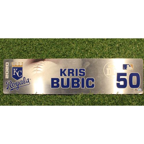 Photo of Game-Used Locker Tag: Kris Bubic #50 (DET @ KC 9/24/20)