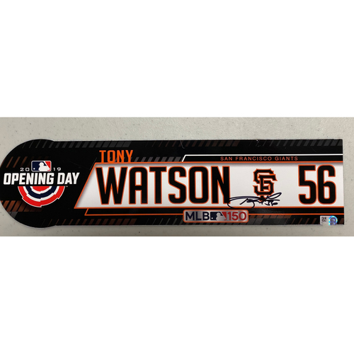 Photo of 2020 Cyber Monday Sale - #56 Tony Watson Team Issued Autographed 2019 Opening Day Locker Tag