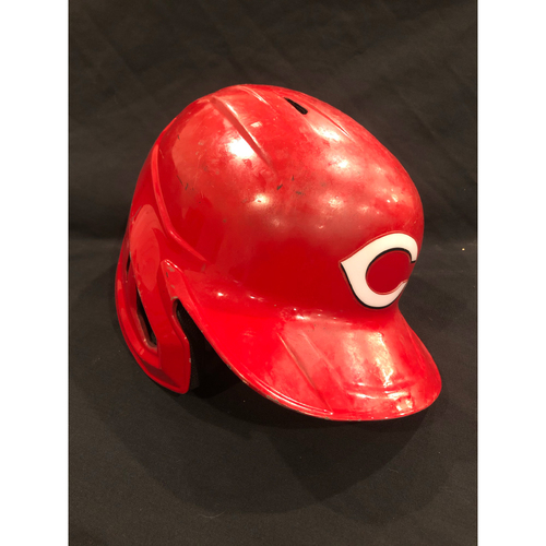 Photo of Joey Votto -- 2020 Game-Used Helmet -- Established the Reds All-Time Walk Record (Passing Pete Rose) on Sept. 20 vs. White Sox -- Helmet Scheduled to Arrive Prior to Dec 24