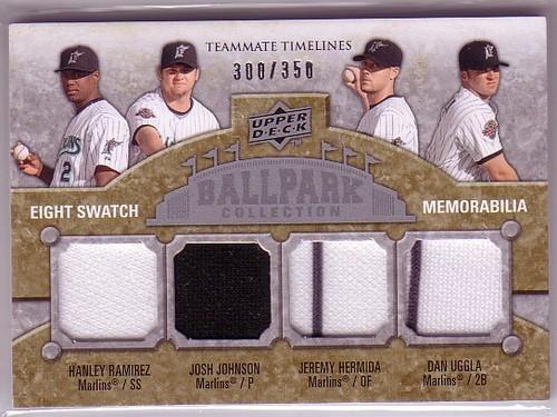 Photo of 2009 Upper Deck Ballpark Collection #374 A.J. Burnett/Josh Beckett/Mike Lowell/Josh Willingham/Hanle