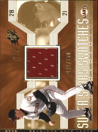 Photo of 2002 SPx SuperStars Swatches Gold #190 Jeff Kent