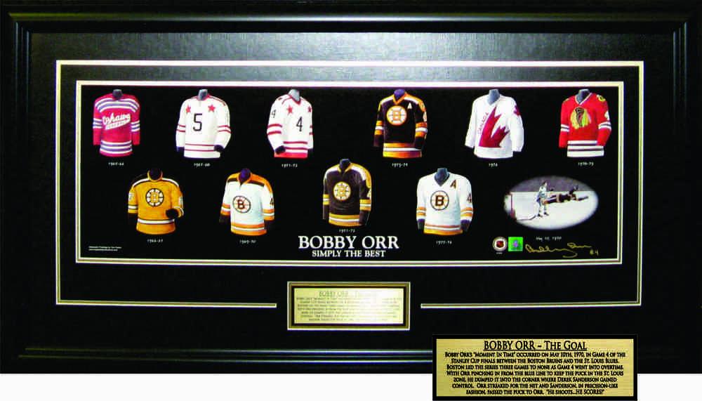 Bobby Orr - Signed & Framed 10x30