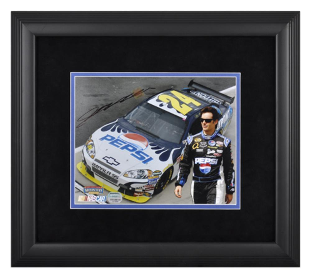 Jeff Gordon Autographed NASCAR Framed 8