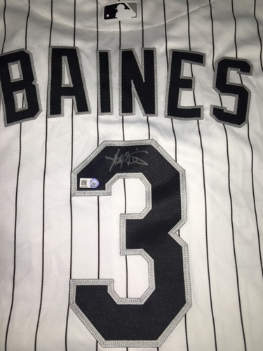 Harold Baines Autographed Jersey - Size 50
