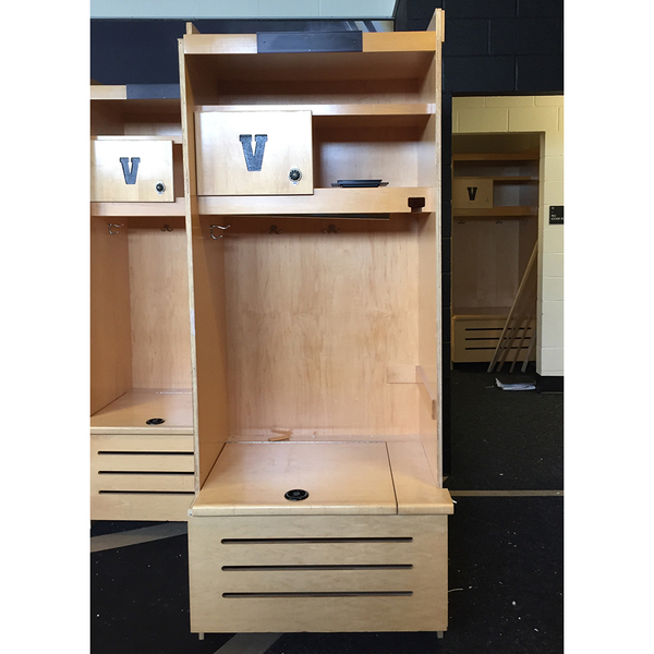 Photo of Authentic Vanderbilt Locker #4 Used by a Current Professional Baseball Player