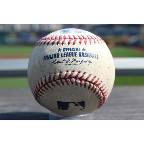 Photo of Game-Used Baseball: Lorenzo Cain Career 746th Career Hit (SEA at KC - 8/6/2017 - Game 1 of 2)