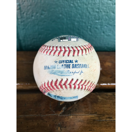 Photo of Cardinals Authentics: Game-Used Baseball Pitched by Jake Junis to Tyler O'Neill and Jedd Gyorko *Single, Double*