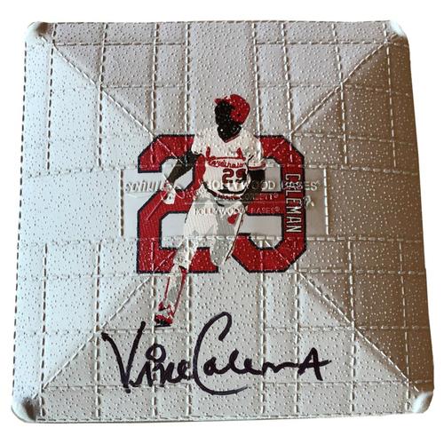 Photo of Cardinals Authentics: St. Louis Cardinals Autographed Mini Vince Coleman Replica Base