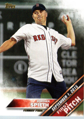 Photo of 2016 Topps First Pitch #FP7 Jordan Spieth