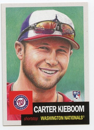 Photo of 2019 Topps Living #191 Carter Kieboom Rookie Card
