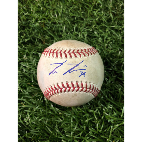 Photo of 20th Anniversary Game Used Baseball: Kevin Kiermaier single off Tanner Scott - September 8, 2018 v BAL