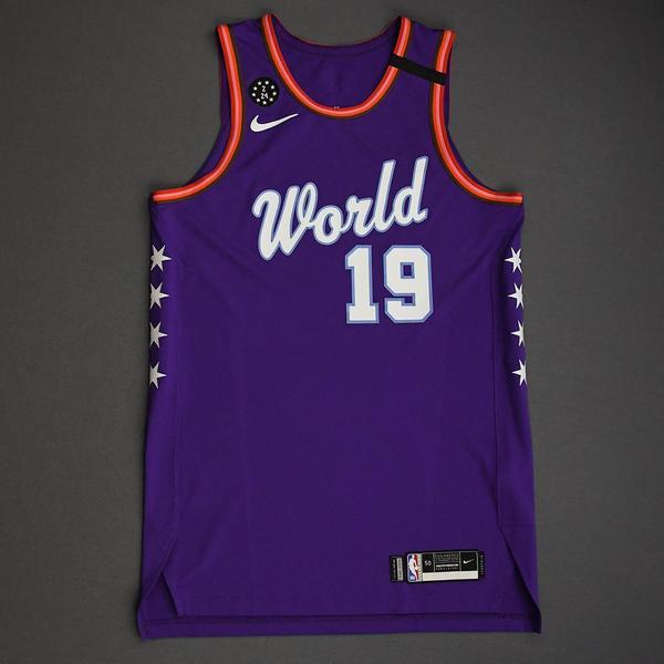 Image of Svi Mykhailiuk - 2020 NBA Rising Stars - Team World - Game-Worn 1st Half Jersey