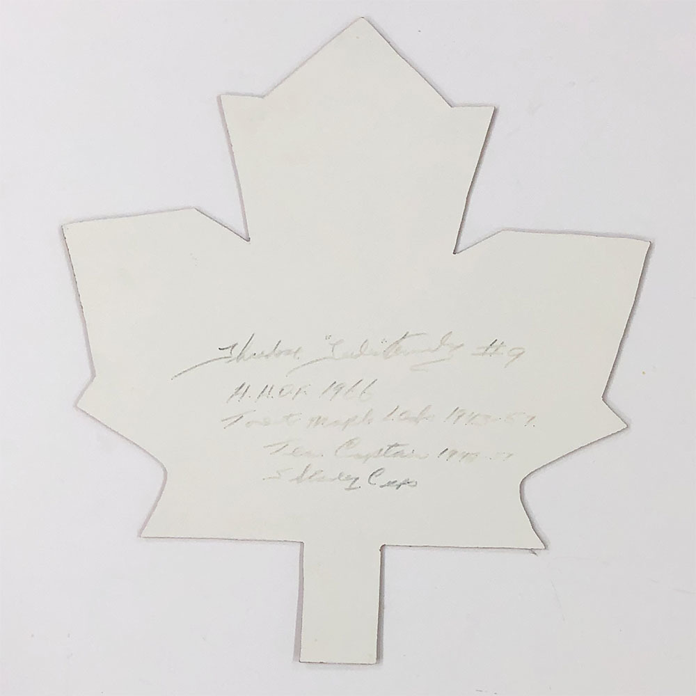 Ted Kennedy Autographed Maple Leaf Cut-Out w/Multiple Inscriptions