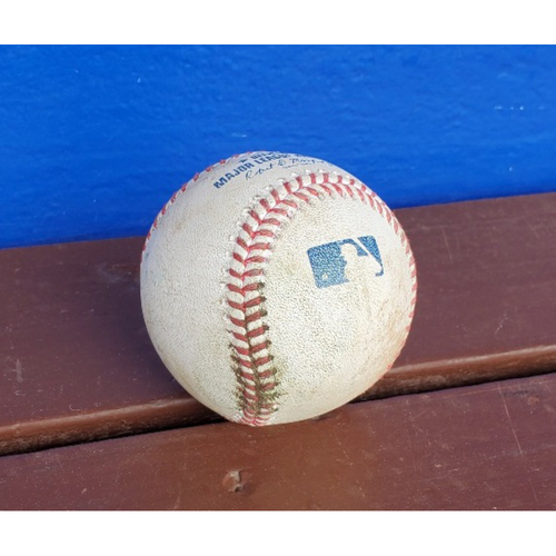 Photo of 2020 Phillies Game-Used Baseball - Alec Bohm Walk-Off Single