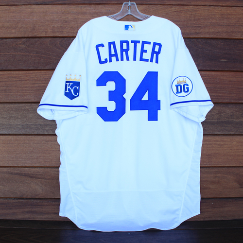 Photo of Game-Used 2020 Los Reales Jersey: Larry Carter #34 (PIT @ KC 9/12/20) - Size 52