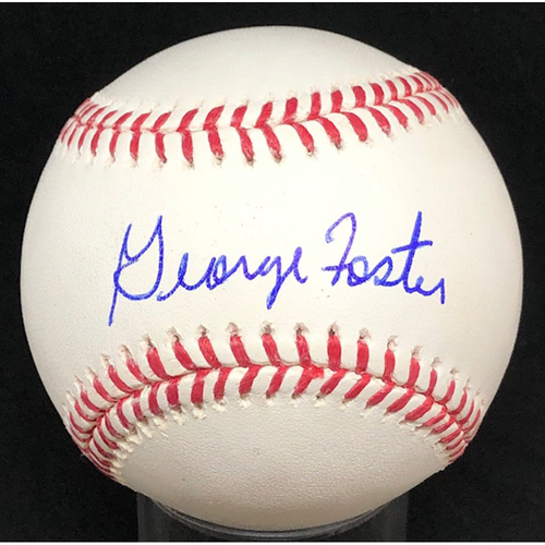 Photo of George Foster -  Autographed Official Major League Baseball