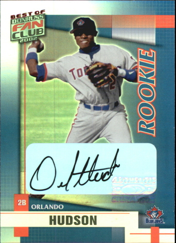 Photo of 2002 Donruss Best of Fan Club Autographs #241 Orlando Hudson/525