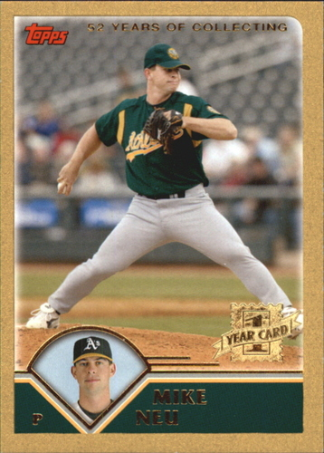 Photo of 2003 Topps Traded Gold #T275 Mike Neu FY