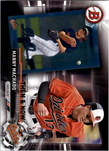 Photo of 2017 Topps Bowman Then and Now #BOWMAN4 Manny Machado