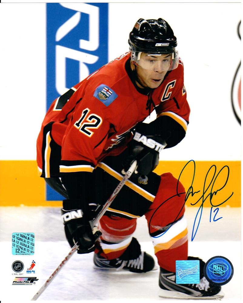 Jarome Iginla - Signed Calgary Flames 8x10 Photo