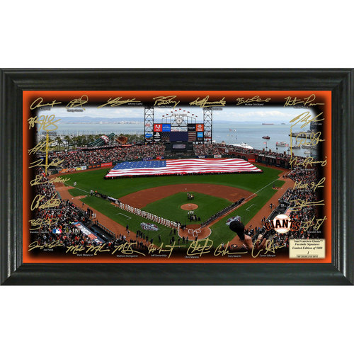 Serial #1! San Francisco Giants 2017 Signature Field
