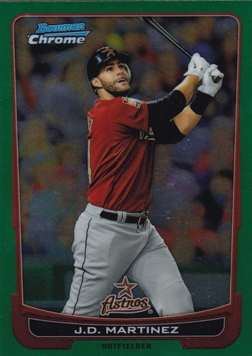 Photo of 2012 Bowman Chrome Green Refractors #68 J.D. Martinez