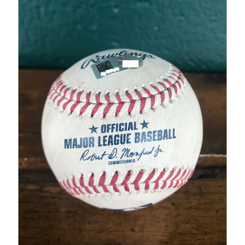 Photo of Cardinals Authentics: Game-Used Baseball Pitched by Jordan Hicks to Hunter Dozier *Foul 102.1 MPH*