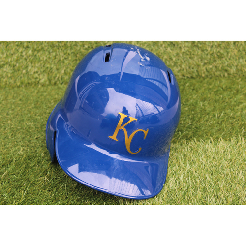 Photo of Game-Used Batting Helmet: Brian Goodwin Grand Slam (Size 7 1/4 - CLE @ KC - 9/28/18)