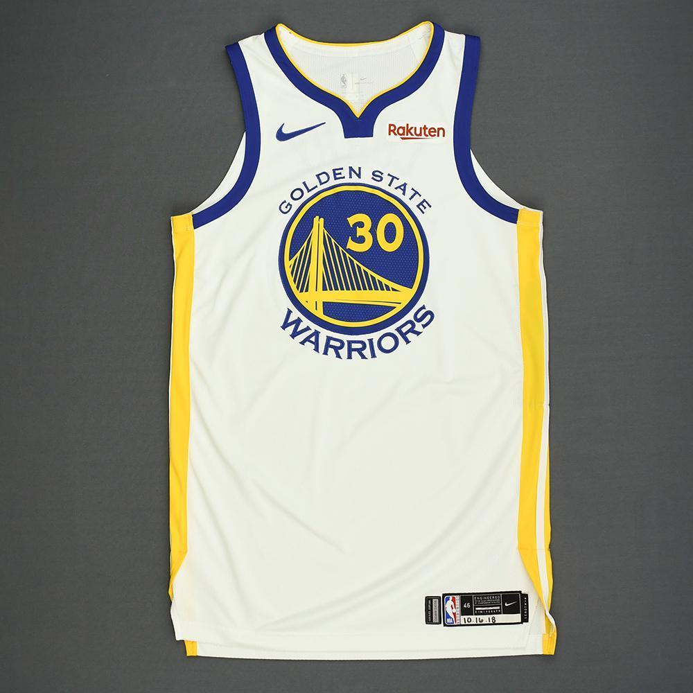 Stephen Curry - Golden State Warriors - Kia NBA Tip-Off 2018 - Game-Worn Association Edition Jersey